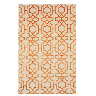 Alarins Hand-Knotted Ivory Area Rug