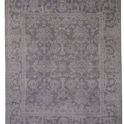 Palazzolo Hand-Knotted Gray Area Rug Rug Size: 8 x 10