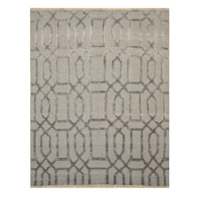 Tayna Links Hand-Knotted Gray Area Rug