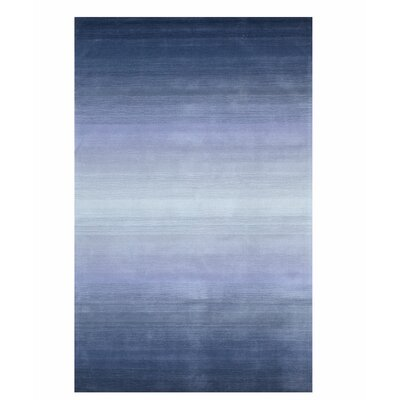Hershel Horizon Handmade Blue Area Rug Rug Size: 79 x 99
