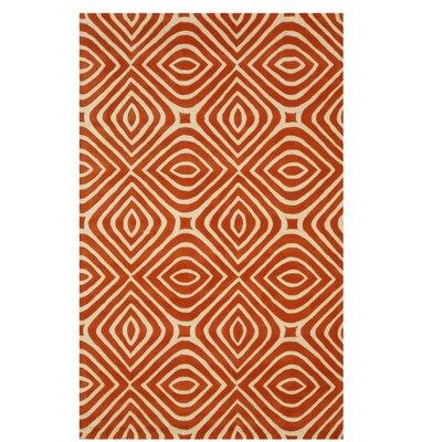 Corrigan Hand-Tufted Orange Area Rug