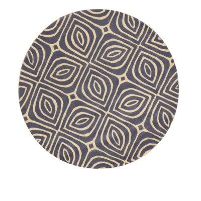 Alba Hand-Tufted Blue Area Rug Rug Size: Round 7'9