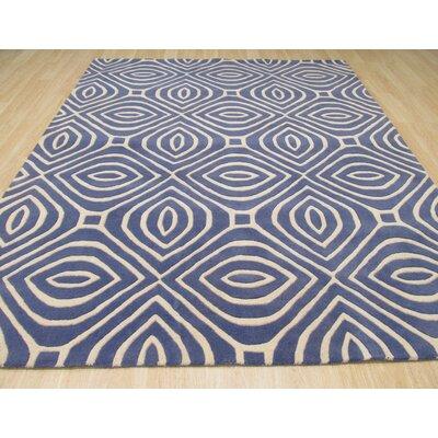 Alba Hand-Tufted Blue Area Rug Rug Size: 96 x 136