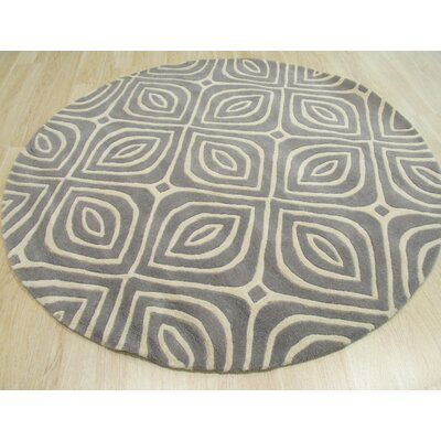 Edwards Hand-Tufted Gray Area Rug Rug Size: Round 7'9