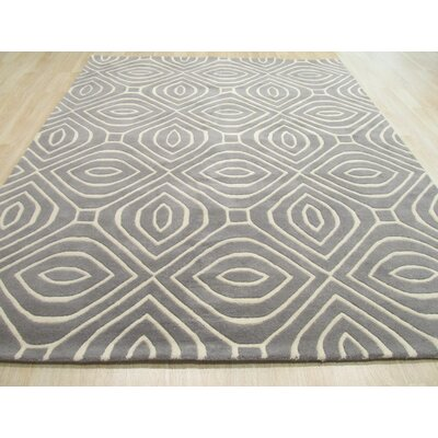 Edwards Hand-Tufted Gray Area Rug Rug Size: Rectangle 96 x 136