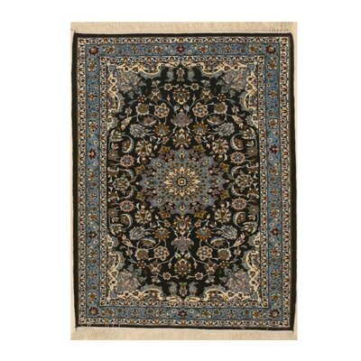Valley Traditional Hand-Knotted Wool Blue Area Rug