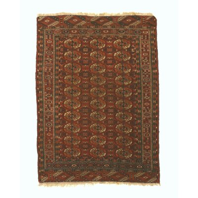 Mikonos Traditional Hand-Knotted Wool Rust Area Rug