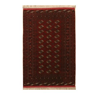Mikonos Traditional Hand-Knotted Silk Red Area Rug