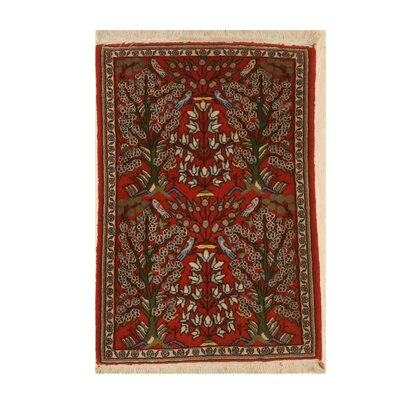 Miranda Traditional Hand-Knotted Wool Red Area Rug