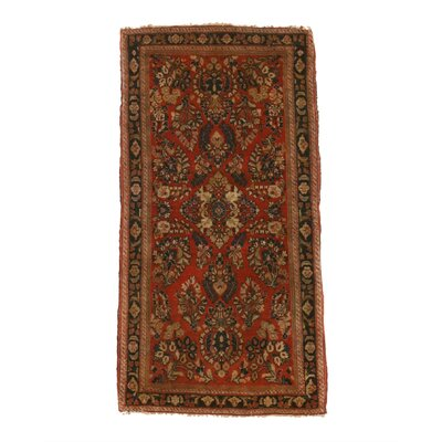 Mira Traditional Hand-Knotted Wool Rust Area Rug
