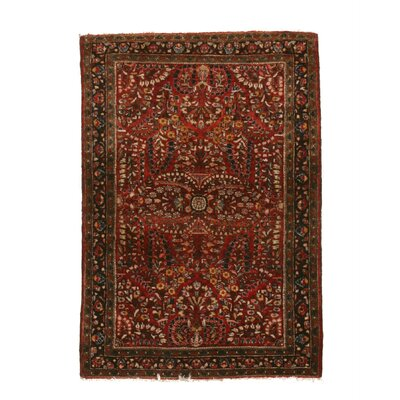 Mira Traditional Hand-Knotted Wool Red Area Rug