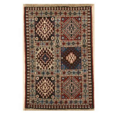 Middleton Persian Traditional Hand-Knotted Wool Red/Ivory Area Rug