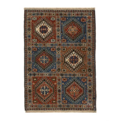 Middleton Traditional Hand-Knotted Wool Brown/Blue Area Rug