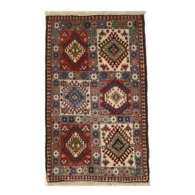 Middleton Traditional Hand-Knotted Wool Ivory/Blue Area Rug