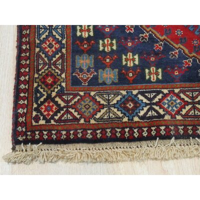Middleton Traditional Rectangle Hand-Knotted Pure Wool Rust/Ivory Area Rug