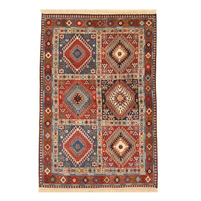 Middleton Traditional Neutral Rectangle Hand-Knotted Wool Rust/Ivory Area Rug