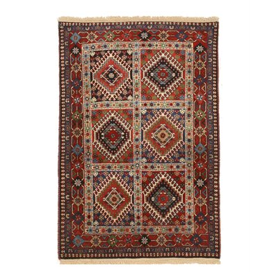 Middleton Traditional Rectangle Hand-Knotted Wool Rust/Ivory Area Rug
