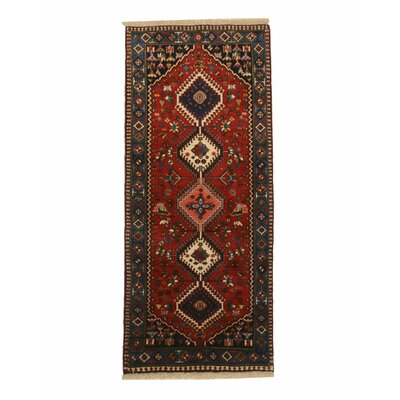 Middleton Traditional Hand-Knotted Wool Rust Area Rug