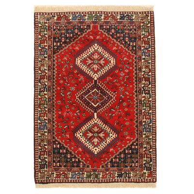Middleton Traditional Hand-Knotted Wool Orange Area Rug