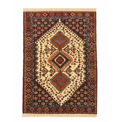 Middleton Traditional Hand-Knotted Pure Wool Ivory/Blue Area Rug