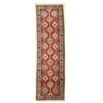 Middleton Traditional Hand-Knotted Wool Rust/Ivory Area Rug