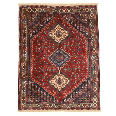Middleton Traditional Hand-Knotted Wool Red/Blue Area Rug