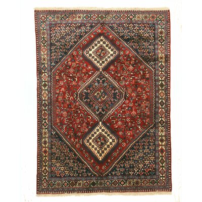 Middleton Persian Traditional Hand-Knotted Wool Red/Blue Area Rug