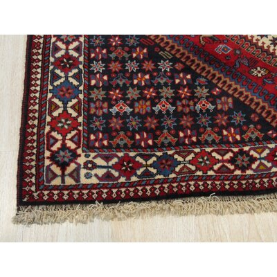 Middleton Traditional Hand-Knotted Pure Wool Red/Ivory Area Rug