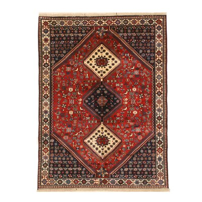 Middleton Traditional Hand-Knotted Wool Red/Ivory Area Rug