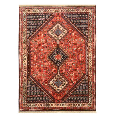 Middleton Traditional Rectangle Hand-Knotted Wool Rust Area Rug