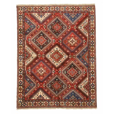 Middleton Traditional Hand-Knotted Pure Wool Rust/Ivory Area Rug