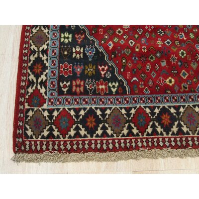 Middleton Traditional Rectangle Hand-Knotted Wool Red Area Rug