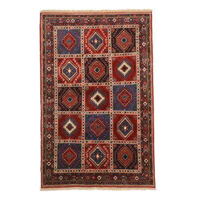 Middleton Traditional Hand-Knotted Wool Navy/Red Area Rug