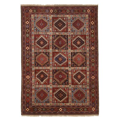 Middleton Persian Traditional Hand-Knotted Wool Rust Area Rug