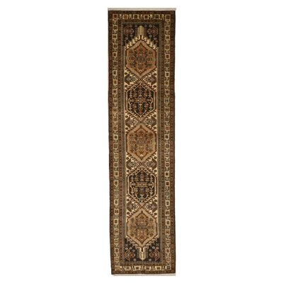 Miles Traditional Hand-Knotted Wool Beige/Brown Area Rug