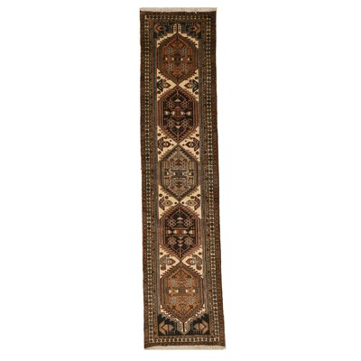 Miles Traditional Hand-Knotted Wool Ivory/Brown Area Rug