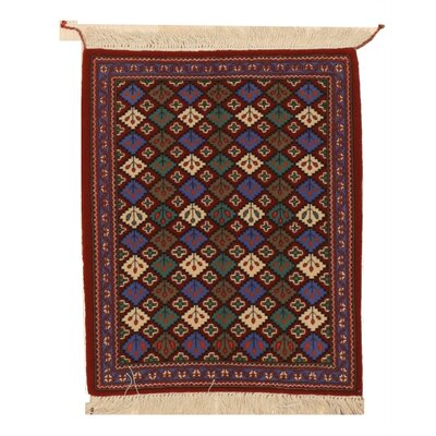 Miranda Traditional Hand-Knotted Wool Red/Blue Area Rug