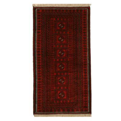 Mikonos Traditional Hand-Knotted Wool Red Area Rug