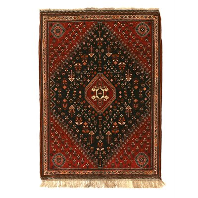 Mona Traditional Hand-Knotted Wool Navy/Ivory Area Rug