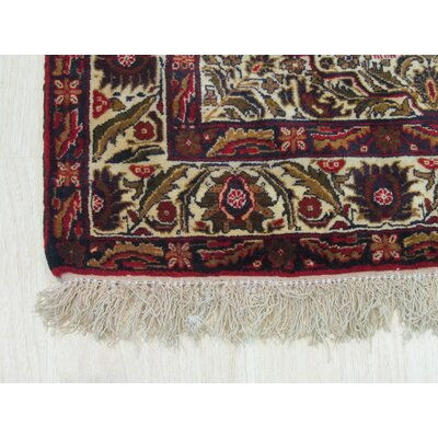 Vacchiano Traditional Hand-Knotted Wool Ivory /Green Area Rug