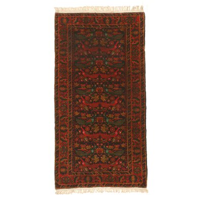 Mikonos Traditional Hand-Knotted Wool Navy/Red Area Rug