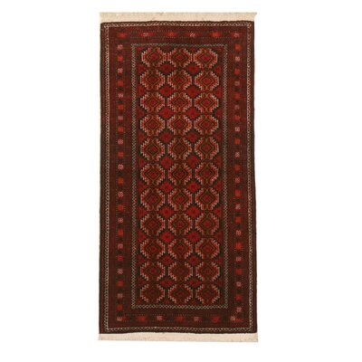 Mikonos Traditional Rectangle Hand-Knotted Wool Red Area Rug