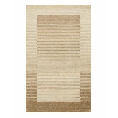 Kelbark Hand-Woven Wool Beige Area Rug Rug Size: 9 x 12