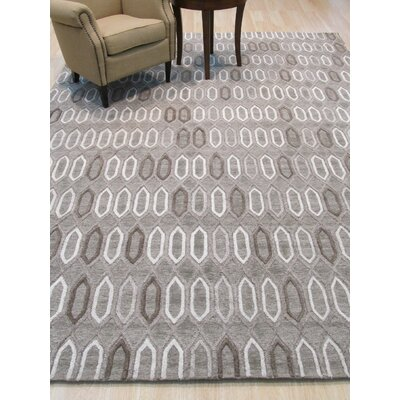 Durazo Traditional Trellis Hand-Woven Wool Brown Area Rug Rug Size: 5 x 8