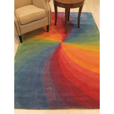 Hanchett Contemporary Abstract Hand-Tufted Wool Multi-colored Area Rug Rug Size: Rectangle 5' x 8'