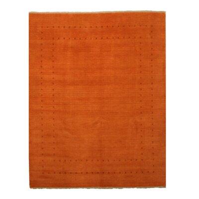 Dreher Handmade Orange Area Rug Rug Size: 6 x 9