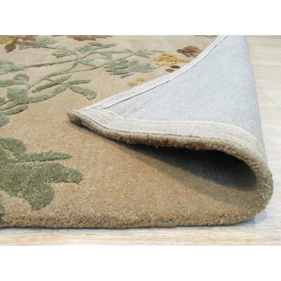 Berrien Hand-Tufted Wool Beige Area Rug Rug Size: 8 x 11
