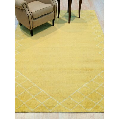 Willison Hand-Woven Wool Yellow Area Rug Rug Size: 8 x 10