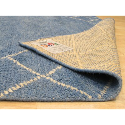 Willison Hand-Woven Wool Blue Area Rug Rug Size: 6 x 9