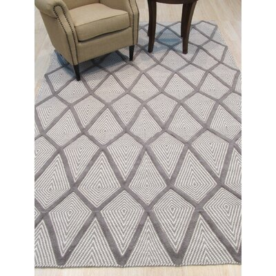 Willman Hand-Woven Wool Gray Area Rug Rug Size: 9 x 12